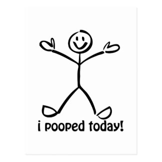 I Pooped hoy Tarjeta Postal