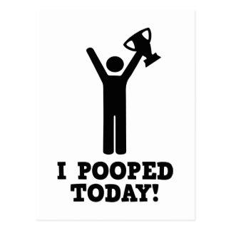 ¡I Pooped hoy! Tarjetas Postales
