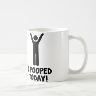 ¡I Pooped hoy! Tazas De Café