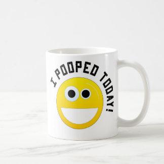 ¡I Pooped hoy! Taza Básica Blanca