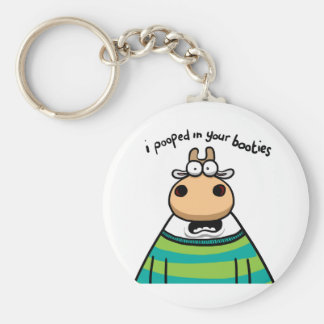 I Pooped in your Booties Basic Round Button Keychain