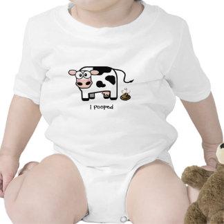 I Pooped - niño divertido de la vaca de Pooping Traje De Bebé