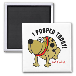 I Pooped Today 2 Inch Square Magnet