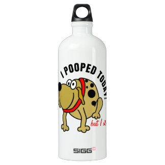 I Pooped Today Aluminum Water Bottle