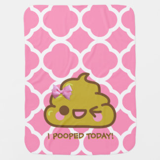 I Pooped Today!  Cutey Poo Baby Blanket