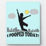 I Pooped Today Display Plaques
