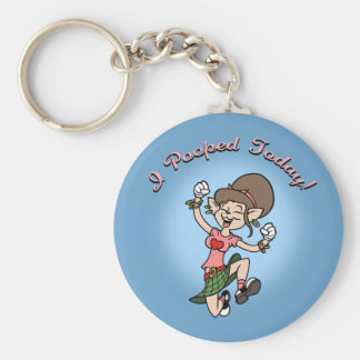 I Pooped Today! -f Keychain