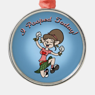 I Pooped Today! -f Christmas Ornaments