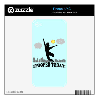 I Pooped Today iPhone 4 Decal