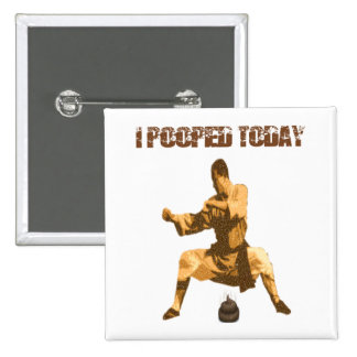 I Pooped Today! : karate crap Pinback Button