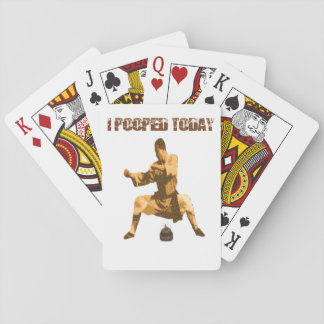 I Pooped Today! : karate crap Playing Cards