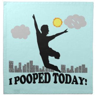 I Pooped Today Napkin