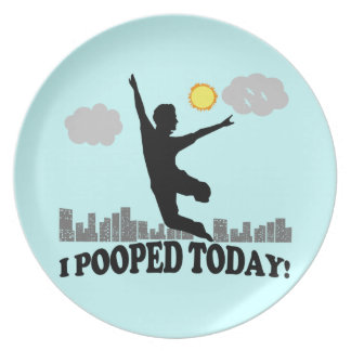 I Pooped Today Plate