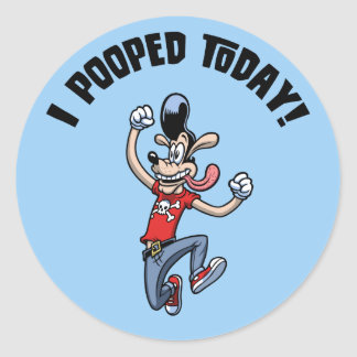 I Pooped Today! Stickers