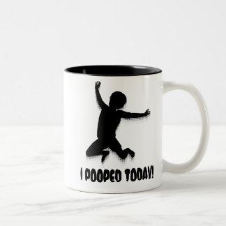 I Pooped Today Two-Tone Mug