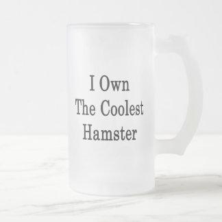 I poseer el hámster más fresco taza cristal mate