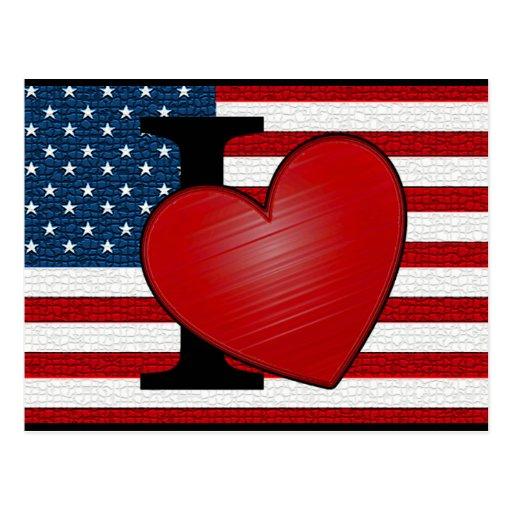 I postal de los E.E.U.U. del corazón