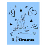 I postal de Urano del corazón