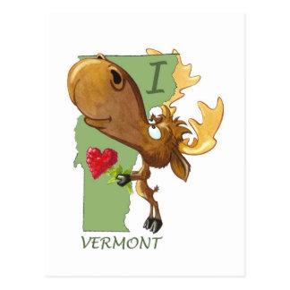 I postal de Vermont del corazón