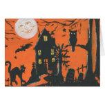 I postal ida B de Halloween del vintage Tarjeta De Felicitación