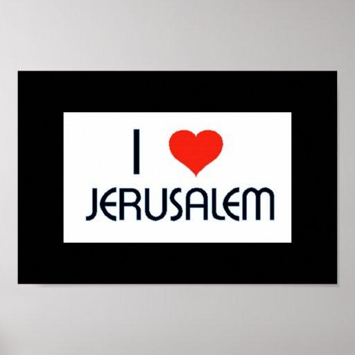 I poster de Jerusalén del corazón