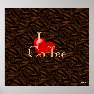 I poster del café del corazón póster