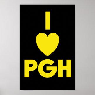 I poster del corazón PGH - ennegrezca el 'oro de n