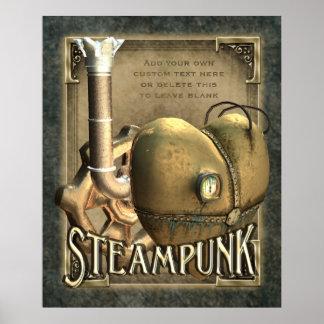 I poster del personalizado de Steampunk del