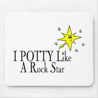 I POTTY Like A Rock Star Mouse Pad