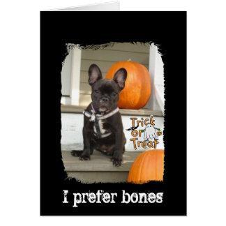 I Prefer Bones Stationery Note Card