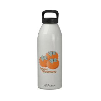 I Prefer Persimmons Reusable Water Bottle