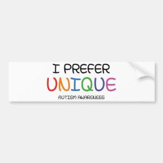 I Prefer Unique – Autism Awareness Bumper Sticker