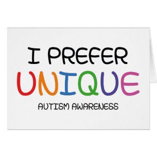 I Prefer Unique – Autism Awareness Card