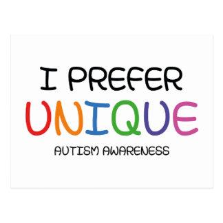 I Prefer Unique – Autism Awareness Postcard