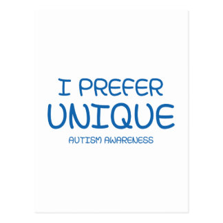I Prefer Unique – Autism Awareness Postcard