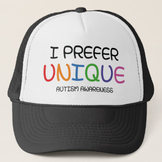 I Prefer Unique – Autism Awareness Trucker Hat