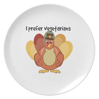 I Prefer Vegetarians Plates