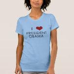 ¡I presidente Obama Caps del corazón! Camiseta