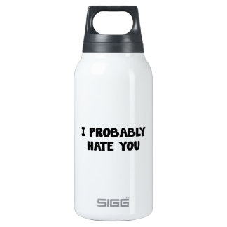I Probably Hate You Insulated Water Bottle