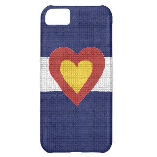 ¡I productos de la bandera de Colorado del corazón Carcasa Para iPhone 5C