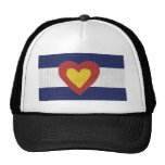 ¡I productos de la bandera de Colorado del corazón Gorros
