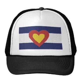 ¡I productos de la bandera de Colorado del corazón Gorro De Camionero