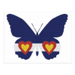 I productos de la mariposa de la bandera de Colora Postales