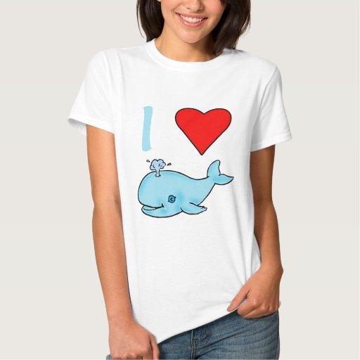 I productos de las ballenas del corazón playeras