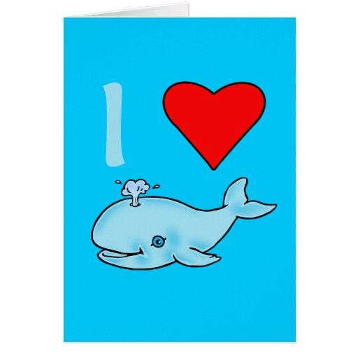 I productos de las ballenas del corazón tarjeta de felicitación