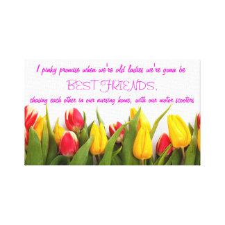 I promesa rosada. Diseño de la lona del tulipán Impresión En Lienzo