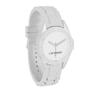 I Promise Black And White Wrist Watch