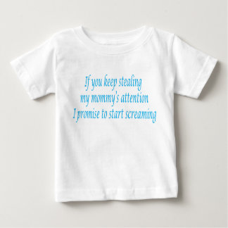 i promise to scream blue font baby T-Shirt