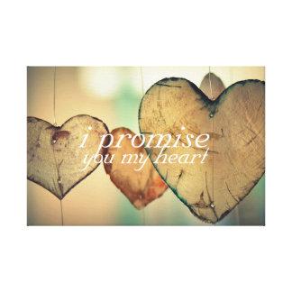 I Promise You My Heart Art Canvas Print
