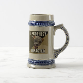I Prophesy Disaster Beer Stein 18 Oz Beer Stein